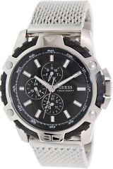 GUESS U17531G1 - Bold and Sporty Watch Silver