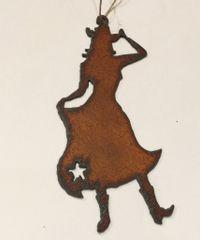 Rusty Dancing Cowgirl Ornament