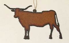 Rusty Texas Longhorn Ornament