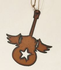 Rusty Flying Guitar Ornament