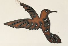 Rusty Humming Bird Ornament