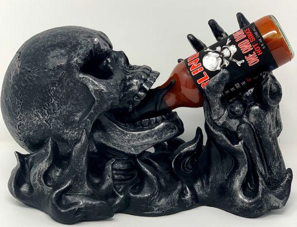 Skeleton Bottle Glorifier w/ One & Done Hot Sauce
