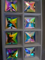 square 22mm crystal ab sew on