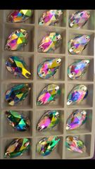 Teardrops 22mmx13mm crystal ab sew ons