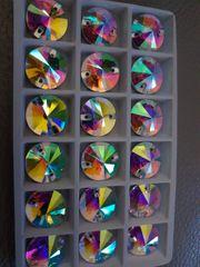 18mm circle sew ons crystal ab