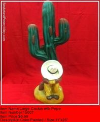 Large Cactus with Pepe - #1500T