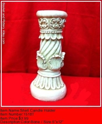 Shell Candle Holder - #1518T