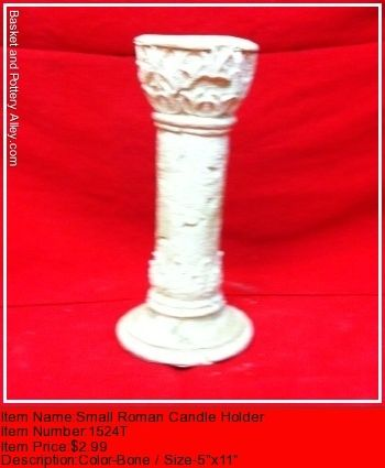 Smal Roman Candle Holder - #1524T