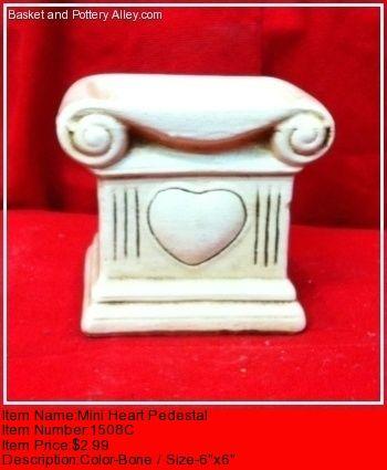 Mini Heart Pedestal - #1508C