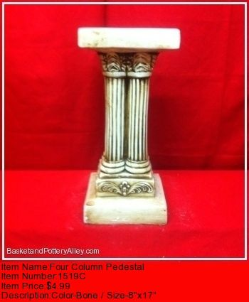 Four Column Pedestal - #1519C