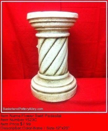 Flower Swirl Pedestal - #1523C