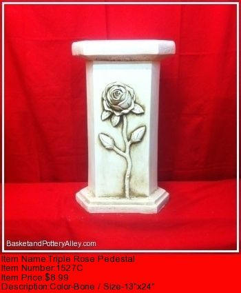 Triple Rose Pedestal - #1527C