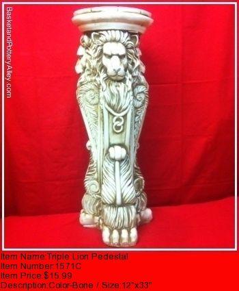 Triple Lion Pedestal - #1571C