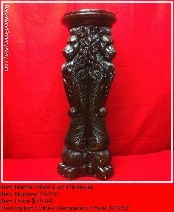 Triple Lion Pedestal - #1572C