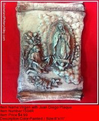 Virgen with Juan Diego Plaque - #1504R