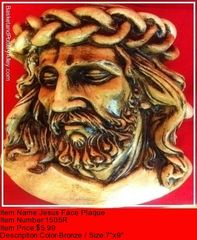 Jesus Face Plaque - #1505R