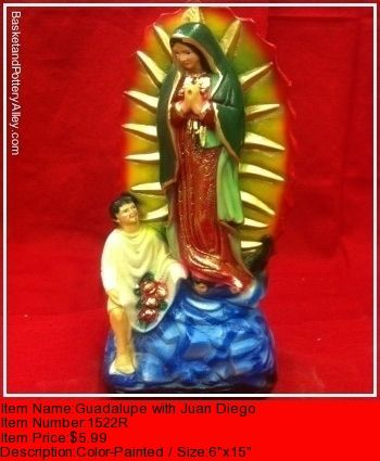 Guadalupe with Juan Diego - #1522R