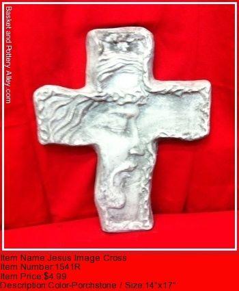 Jesus Image Cross - #1541R