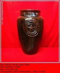 Texas Seal Vase - #1500E