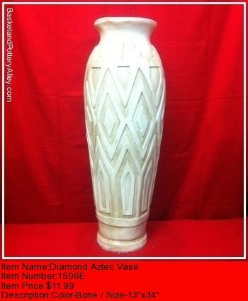 Diamond Aztec Vase - #1506E