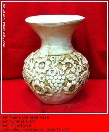 Grenade Vase - #1554F