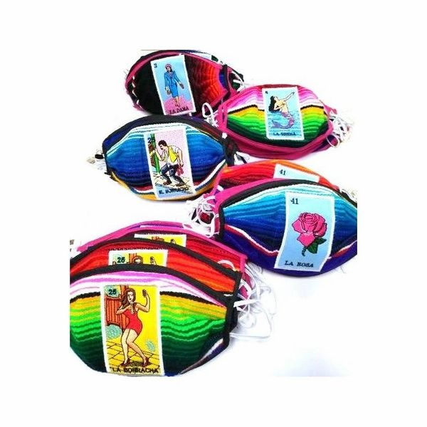 LOTERIA EMBROIDERED FACE MASKS