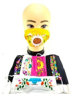 FLORAL EMBROIDERED FACEMASK