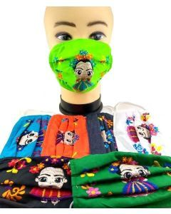 FRIDA EMBROIDERED FACE MASK