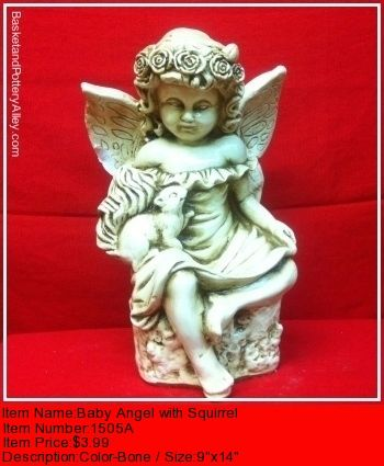 Baby Angel with squirrel - #1505A