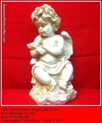 Baby Angel with Dove - #1510A