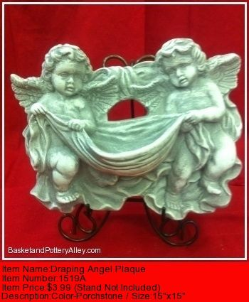 Draping Angel Plaque - #1519A