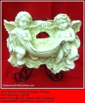 Draping Angel Plaque - #1520A