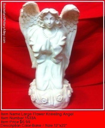 Lareg Flower Kneelinh Angel - #1533A