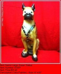 Lareg Boxer Statue - #1504P