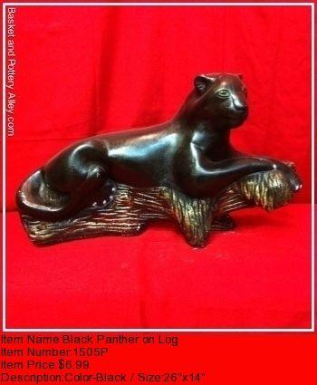 Black Panther on Log - #1505P