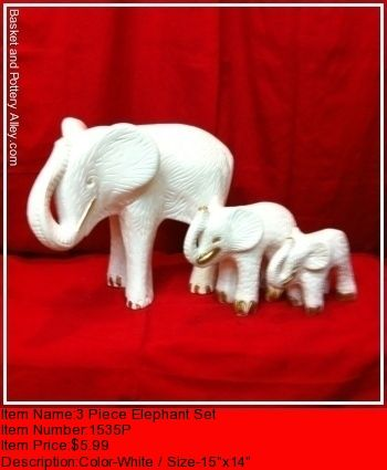 3 Piece Elephant Set - #0142P