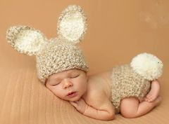 Crocheted Handmade Bunny 2 Piece Set for Baby