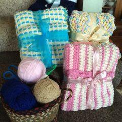Crocheted Handmade Baby Blanket