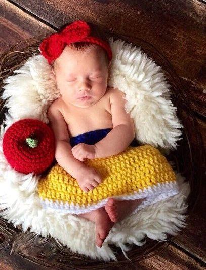 Crocheted Handmade Disney Character Baby Sets