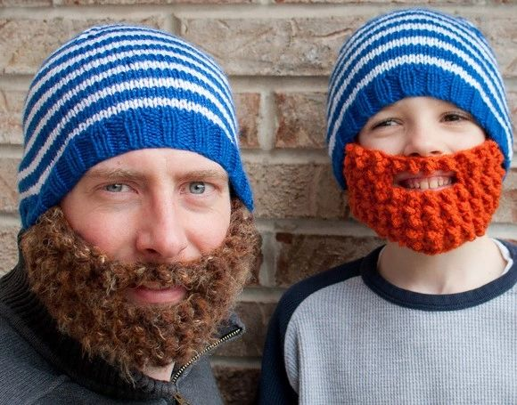 Bearded Handmade Crocheted Hats For All Sizes