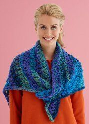 FREE CROCHETED Pattern - Easy Lace Triangle Shawl