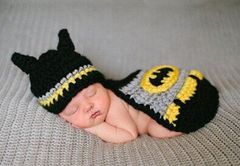 Crocheted Handmade Batman 2 Piece Set for Baby