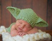 Crocheted handmade Star Wars YODA 2 piece set for baby