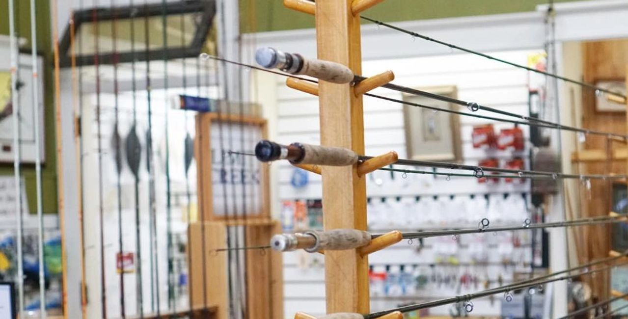 Fiberglass and graphite rods for sale at Root River Rod Co in Lanesboro, MN