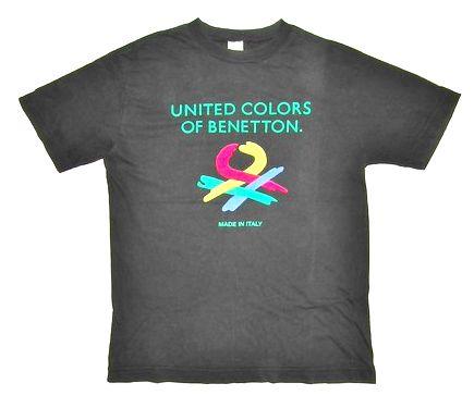 original 80's benetton crew neck tshirt size S-M