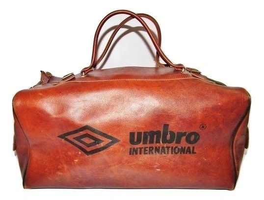 1977 truly classic vintage umbro leather holdall