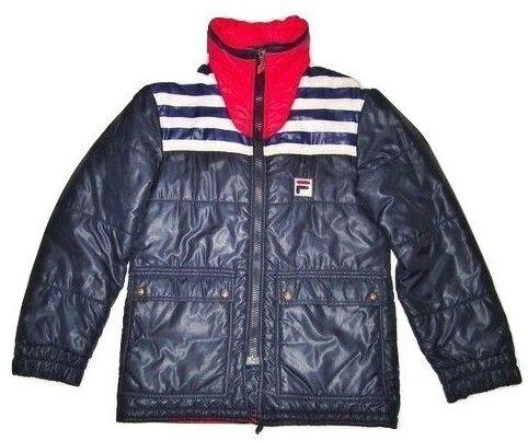 1980's true vintage fila puffa jacket size medium
