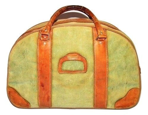 1970's true vintage brown leather slazenger holdall