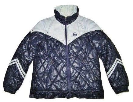 very rare 80's original sergio tacchini puffa coat size M-L