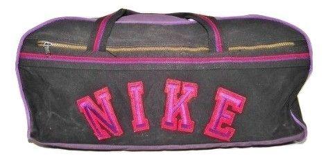 1990's true vintage black nike holdall bag